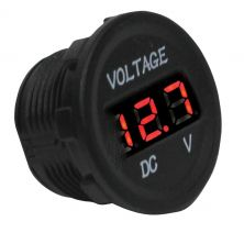 Mini Voltímetro Náutico 12-24V LED